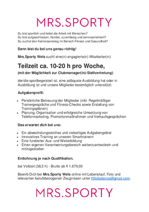teilzeit job in linz